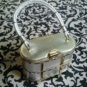 Handbags - Vintage 1950 s little cage  purse